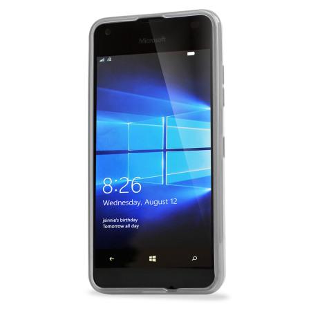 Olixar FlexiShield Microsoft Lumia 550 Gel Case - Frost White