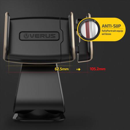 verus hybrid grab universal in car mount gold black