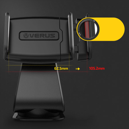 front-facing 13mp verus hybrid grab universal in car mount gold black the
