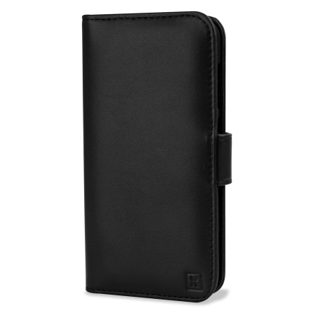 Olixar Premium HTC One A9 Genuine Leather Wallet Case - Black