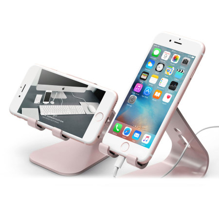 price ease elago m2 aluminium style universal smartphone desk stand rose gold when paired