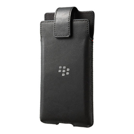 Official Blackberry Priv Leather Swivel Holster Case - Black