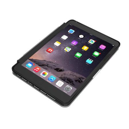 coque clavier ipad mini 4 zagg slim book noire. Black Bedroom Furniture Sets. Home Design Ideas