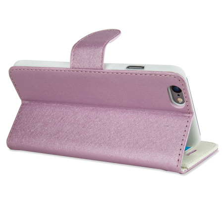 Olixar Leather-Style iPhone 6S / 6 Wallet Stand Case - Lilac