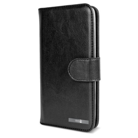 Official Doro Leather Style Liberto 825 Wallet Case - Black