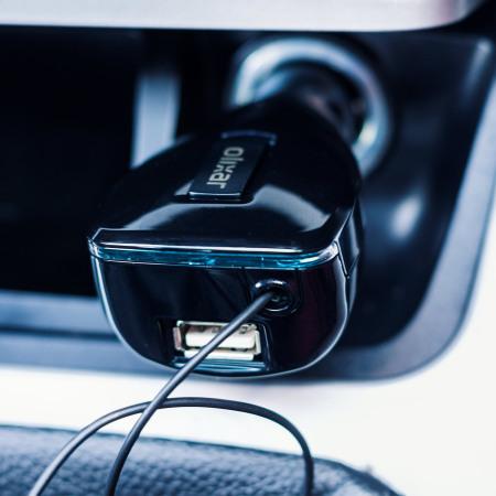 Chargeur voiture Micro USB Olixar 3.4A rétractable avec port USB