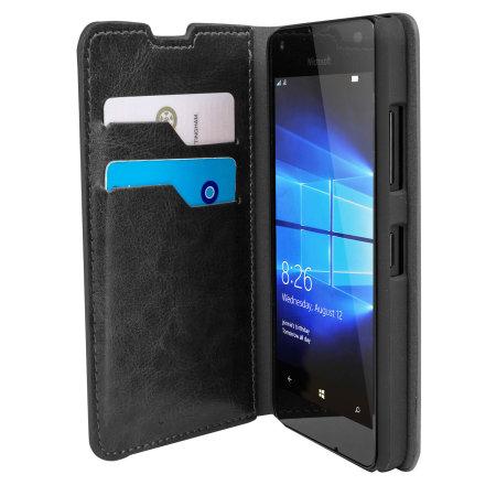 Housse portefeuille microsoft lumia 550 olixar simili cuir for Housse lumia 550