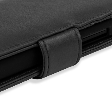 Olixar Microsoft Lumia 550 Genuine Leather Wallet Case - Black