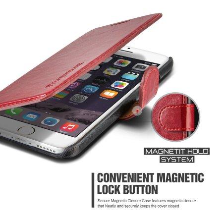 Verus Dandy Leather-Style iPhone 6/6S Plånboksfodral - Röd