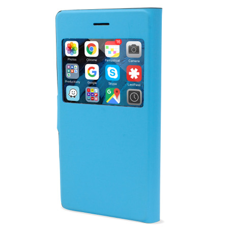 X-Fitted Magic Colour iPhone 6S / 6 View Case - Black / Blue