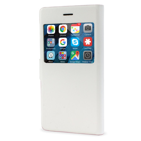 X-Fitted Magic Colour iPhone 6S Plus / 6 Plus View Case - White / Pink