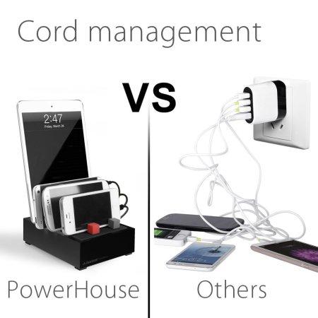 Avantree PowerHouse Desk USB Charging Station - Black - US Mains