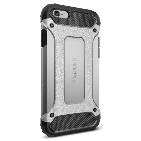 Coque iPhone 6S / 6 Spigen Tough Armor – Argent Satin