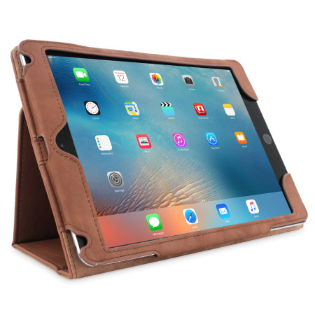 Snugg Leather Style iPad Pro 12.9 inch Case - Brown