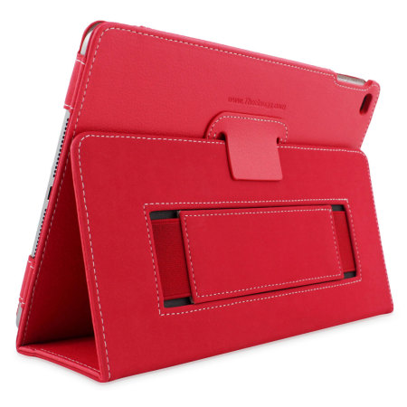Snugg Leather Style iPad Pro 12.9 inch Case - Red
