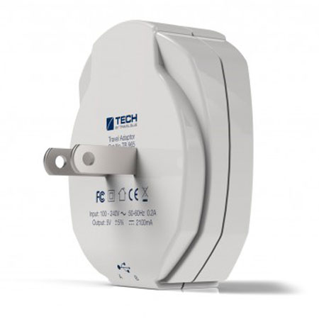 Travel Blue 2.1A Dual USB USA Wall Charger