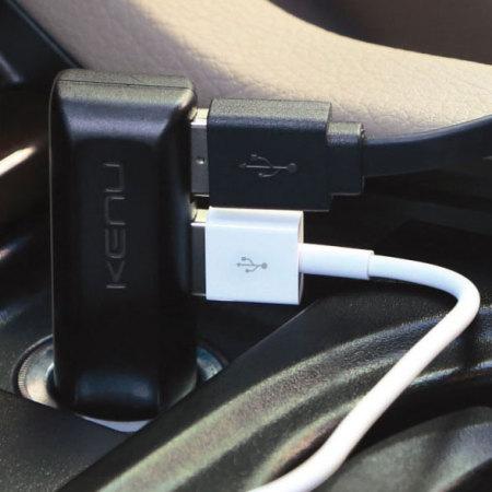 Kenu Dualtrip Fast Car Charger - Black