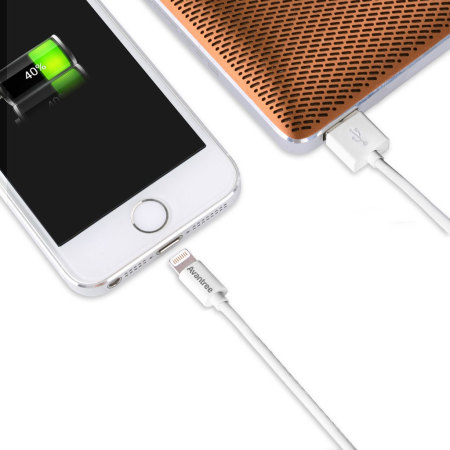 Avantree 2x MFi Lightning to USB Sync & Charge Short Cables - White