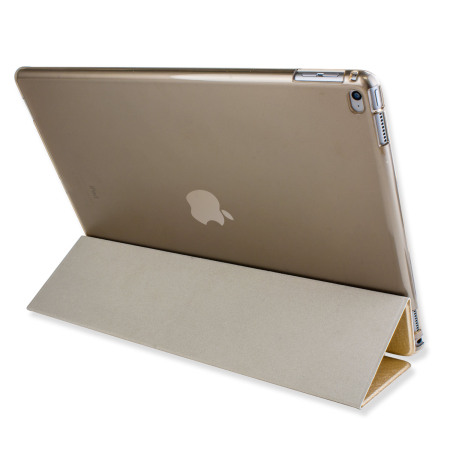 Olixar iPad Pro 12.9 2015 Folding Stand Smart Case - Clear / Gold
