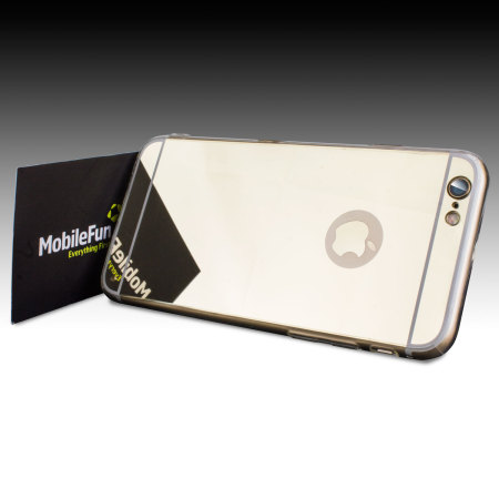 FlexiShield Mirror iPhone 6S / 6 Gel Case - Gold