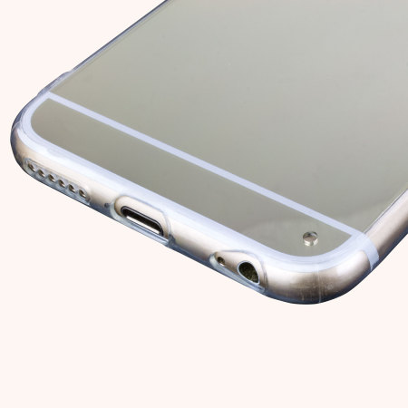 poor earphones flexishield mirror iphone 6s 6 gel case silver money