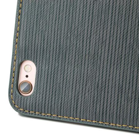 Olixar Premium Fabric iPhone 6S / 6 Wallet Case - Blue