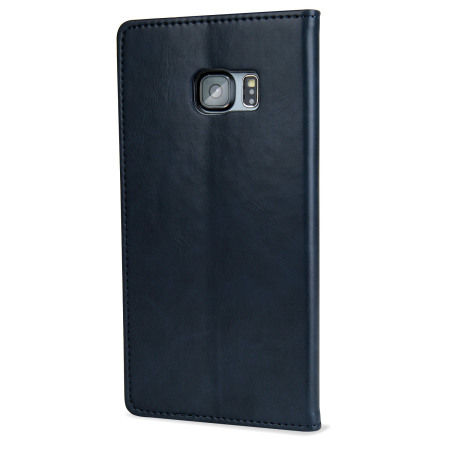 Mercury Blue Moon Samsung Galaxy S6 Edge Plus Wallet Case - Navy