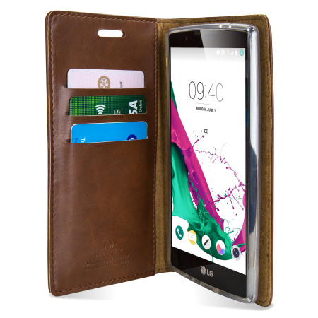 mercury blue moon lg g4 wallet case brown 7 made