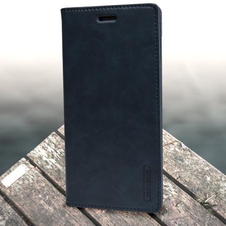 Mercury Blue Moon Flip Samsung Galaxy J5 2015 Wallet Case - Navy