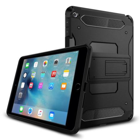 premium selection c327f e6d88 Spigen Tough Armor iPad Mini 4 Case - Smooth Black