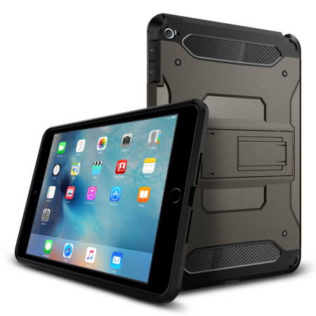 low priced d90db 3ddcb Spigen Tough Armor iPad Mini 4 Case - Gunmetal