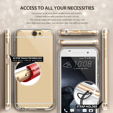 Rearth Ringke Fusion HTC One A9 Case - Rose Gold Crystal
