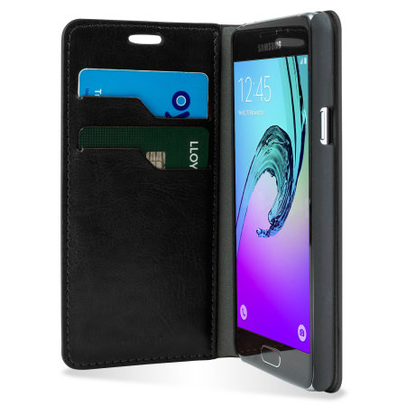 Olixar Samsung Galaxy A3 2016 Leather-Style Wallet Case - Black