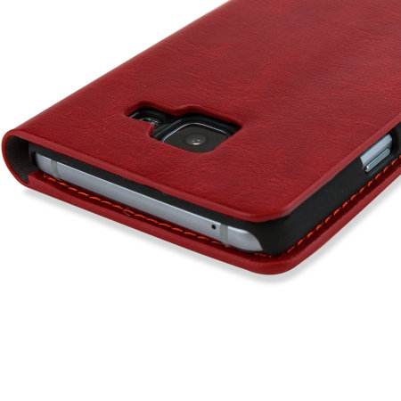 Olixar Samsung Galaxy A3 2016 Leather-Style Wallet Case - Red