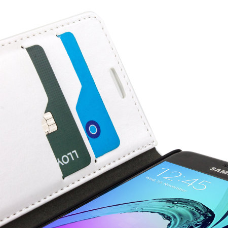 Olixar Samsung Galaxy A3 2016 Leather-Style Wallet Case - White