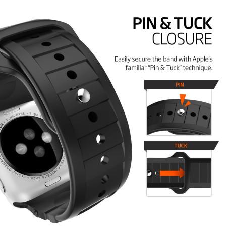 cheap for discount 4e153 7f643 Spigen Rugged Apple Watch Series 2 / 1 Strap - 42mm - Black