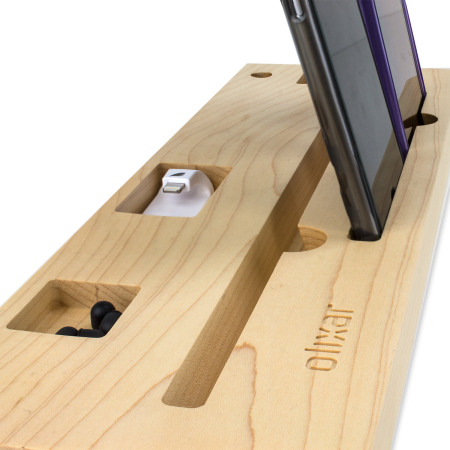 Olixar Tablet and Smartphone Multifunction Wooden Desk Station