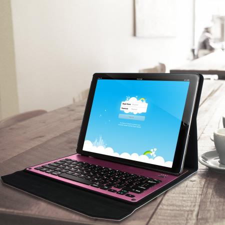 Jack Lacan ultra thin aluminium keyboard ipad pro 12 9 inch folding case pink makes much