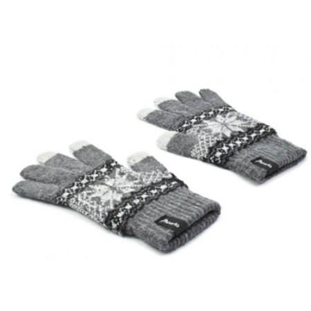 proporta unisex touch screen gloves light grey white