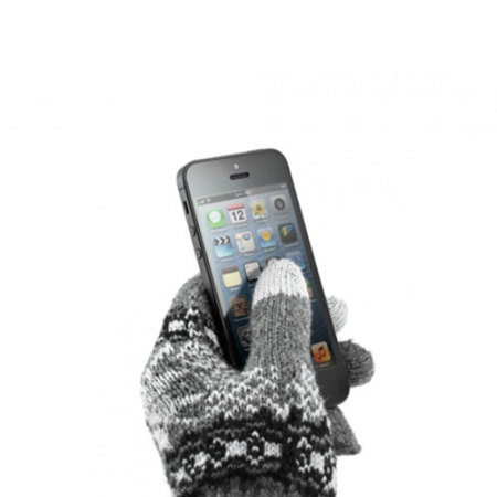 max powered qualcomm proporta unisex touch screen gloves dark grey