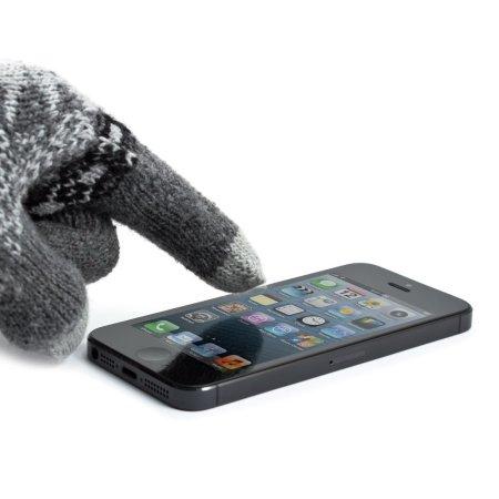 proporta unisex touch screen gloves dark grey