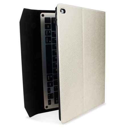 Ultra-Thin Aluminium Keyboard iPad Pro 12.9 inch Folding Case - White