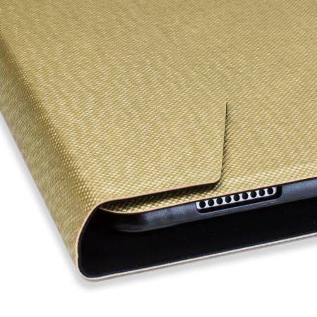 Ultra-Thin Aluminium Folding Keyboard iPad Pro 12.9 2015 Case - Gold