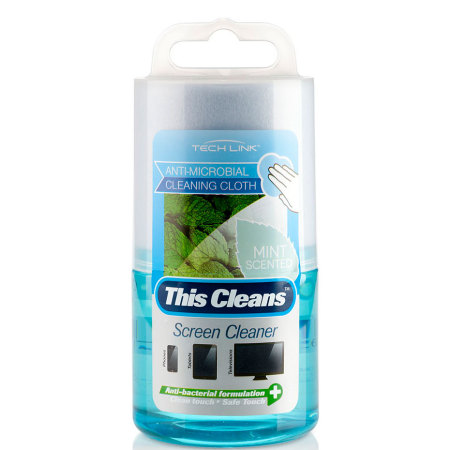TECHLINK This Cleans Mint Scented Screen Cleaner - 120ml with Cloth
