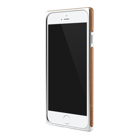 Adopted Frame Aluminium Leather iPhone 6S / 6 Bumper Case - Brown