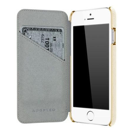Adopted Leather Folio iPhone 6S Plus / 6 Plus Wallet Case - White