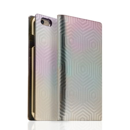 SLG Hologram Genuine Leather iPhone 6S / 6 Wallet Case - Silver