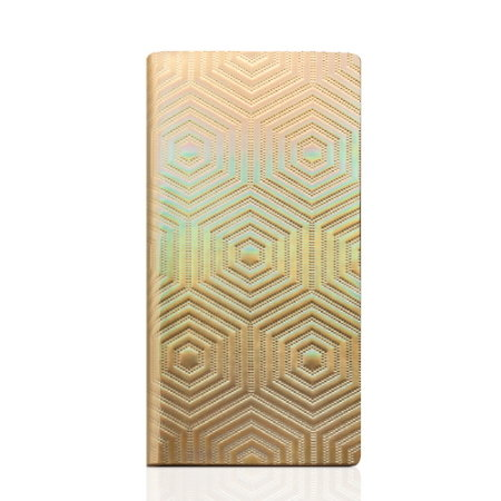SLG Hologram Genuine Leather iPhone 6S / 6 Wallet Case - Gold