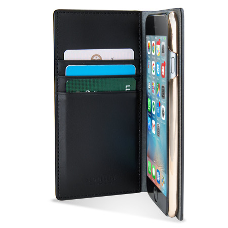 SLG Metal Edition iPhone 6S / 6 Leather Wallet Case - Black