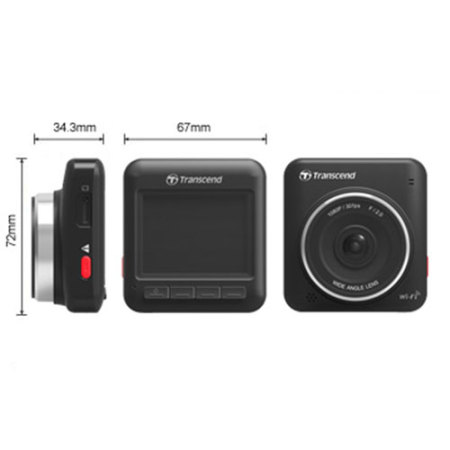 Transcend DrivePro 200 1080p Car Video Dash Cam with Wi-Fi